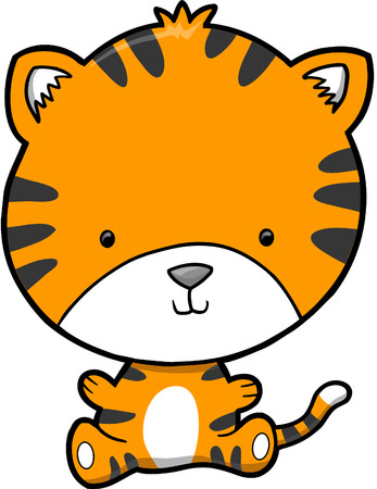 Cute Tiger Vector Illustration Banco de Imagens - 3753063