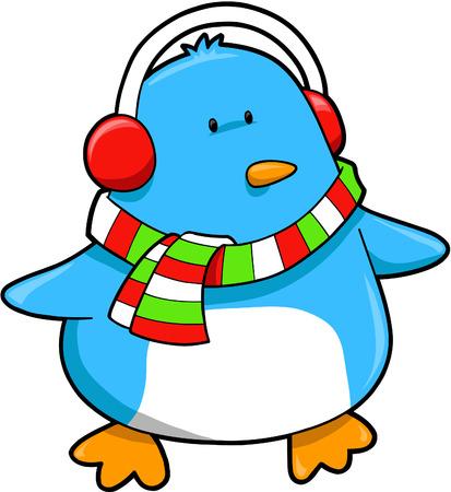 Christmas Penguin Vector Illustration Stock Vector - 3753078
