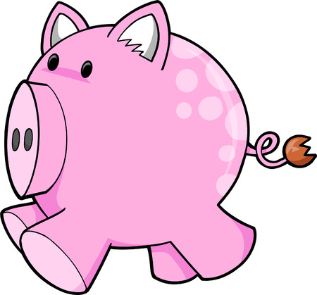 ink Pig cVector Illustration