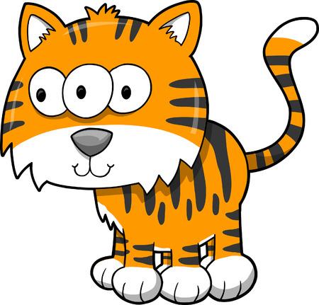 undomesticated: Tiger Vector Illustration