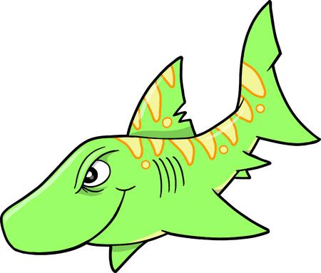 deepsea: Shark Vector Illustration