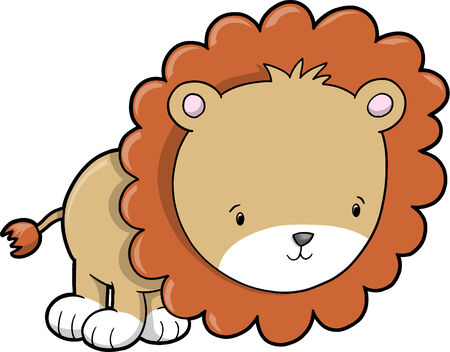 Safari Lion Vector Illustration Stock Vector - 4642091