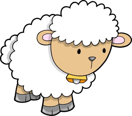 Cute Sheep Vector Illustratie Vector Illustratie