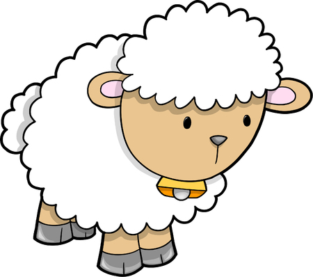 Cute Sheep Vector Illustration Vector