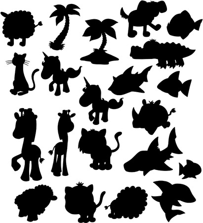 silhouette group Vector Illustration Stock Vector - 4642090