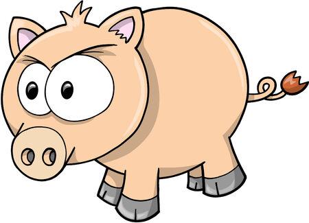 Pig Vector Illustration Vector