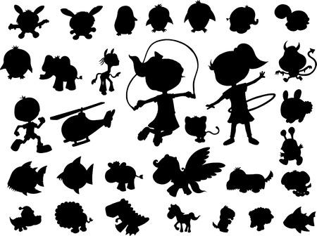 silhouette set Vector Illustration Stock Vector - 4792612