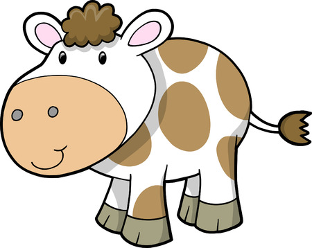 Farm cow Vector Illustration