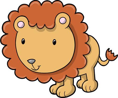 Lion vectorillustratie Stock Illustratie