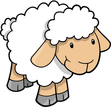Sheep Vector Illustration Illusztráció