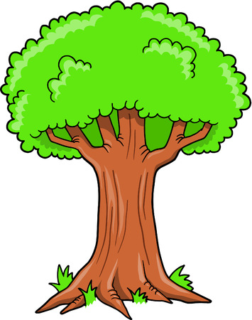 Tree Vector Illustration Stock Illustratie