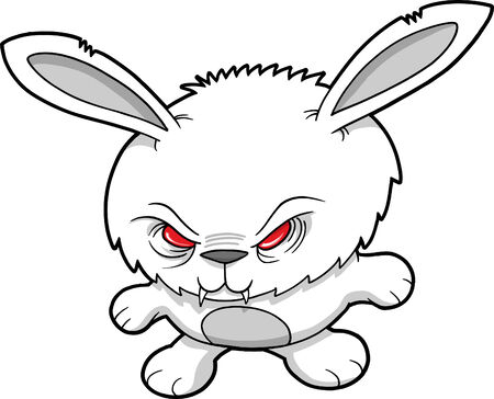 hostile: Vampire Bunny Vector Illustration