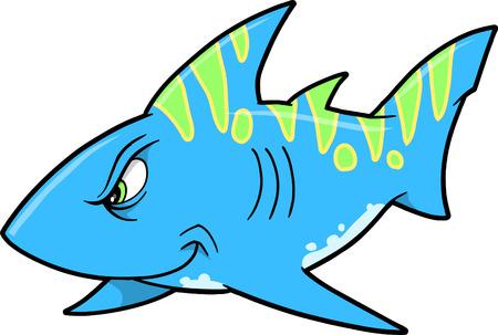 Mean haai Vector Illustratie Stock Illustratie