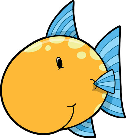 marinelife: Cute Fish Vector Illustration