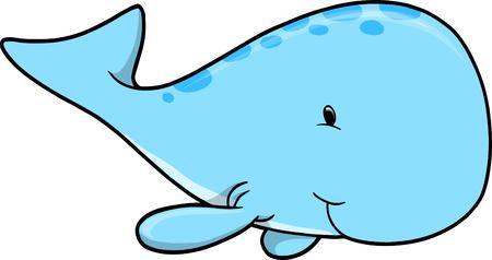 Cute Whale Vector Illustration