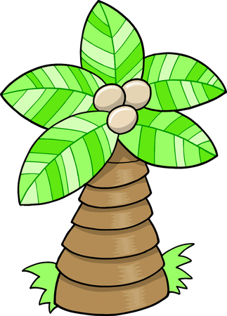 Cute Palm boom Vector illustratie