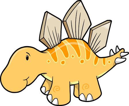 Cute Stegosaurus Vector Illustration Stock Vector - 4958689