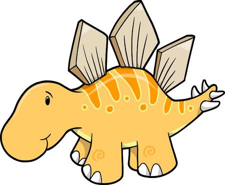 Cute Stegosaurus Vector Illustration Stock Vector - 4958689