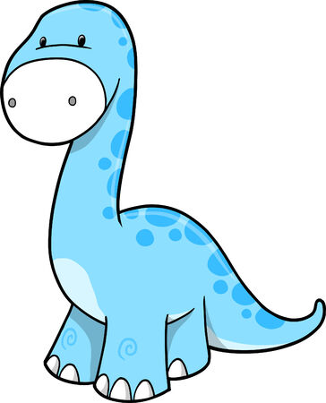 dinosaur cute: Cute Dinosaur Vector Illustration
