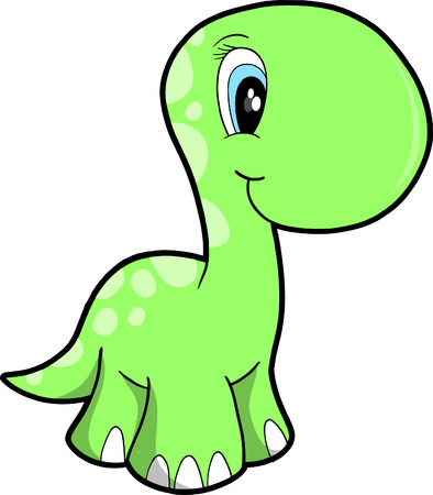 extinction: Cute Vector Dinosaur Illustration