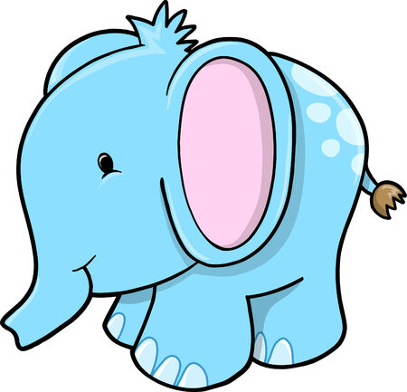 Elephant Vector Illustration Ilustrace