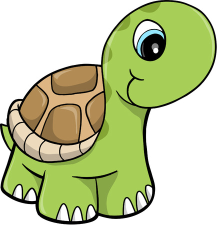 tortuga: Cute Safari tortuga Ilustraciones Vectoriales