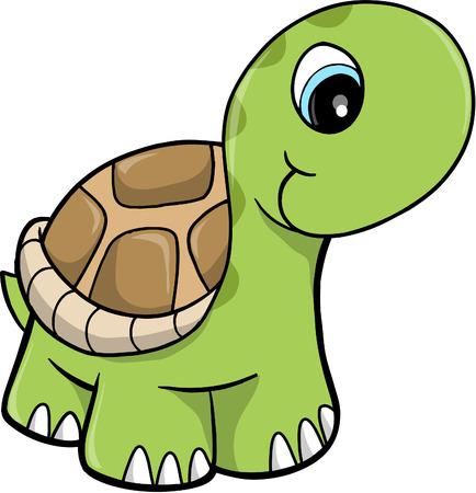 Cute Safari turtle vectorillustratie Stock Illustratie