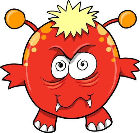 Monster duivel Vector illustratie Stock Illustratie