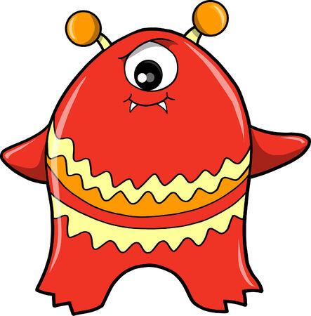 Monster Devil Vector Illustration Ilustração