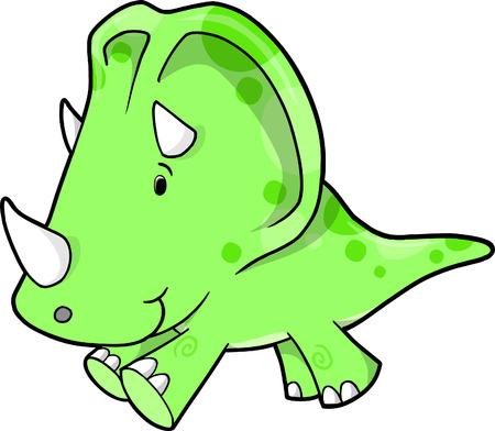 Triceratops Dinosaur Vector Illustration Stock Vector - 4974324
