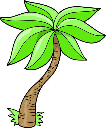Palm Tree Vector Illustratie: