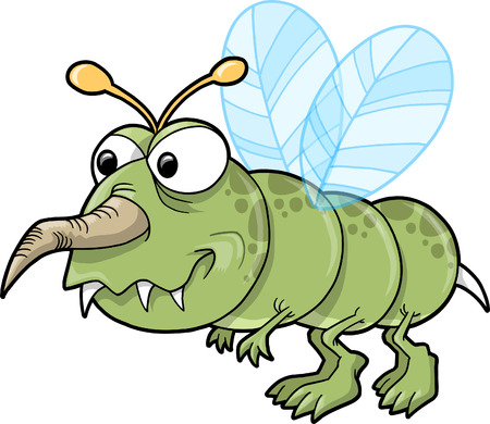 nasty: Mean Nasty Insect Vector Illustration