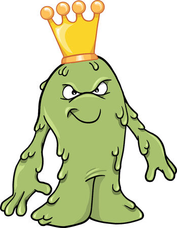 snot:  Booger Slime King Vector Illustration