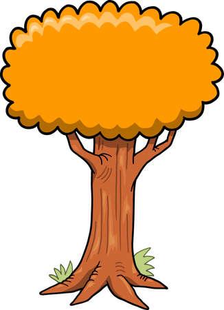 Big Tree Vector Illustration Ilustracja