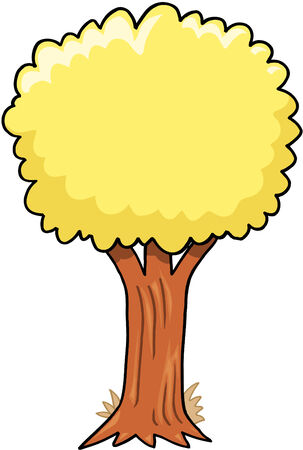 Big Tree Vector Illustration Stock Illustratie