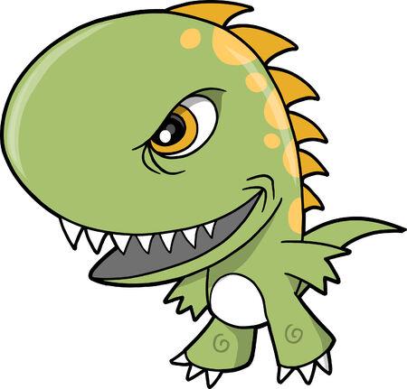 Mean dinosaur Vector Illustration Stock Vector - 5007472