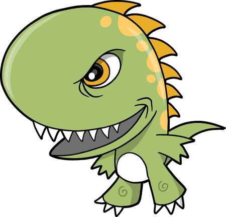 Mean dinosaur Vector Illustration Stock Vector - 5007472