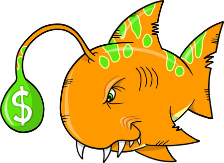 Wall Street Fish Vector Illustration Vector