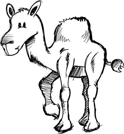 Sketchy Camel Vector Illustratie