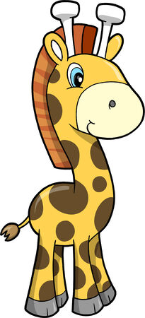 Cute Safari Giraffe Vector Illustration