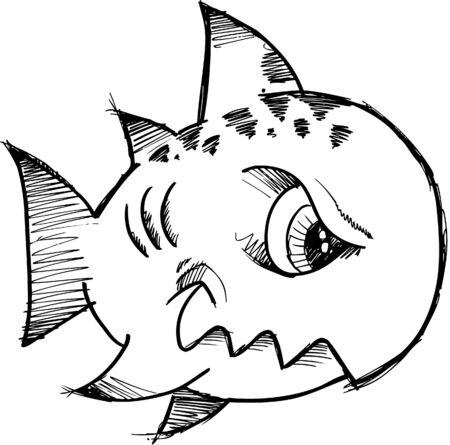 Sketchy Fish Vector Illustration Stock Vector - 5007486