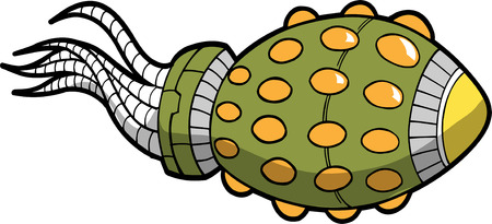 Alien Spaceship Vector Illustration Vector