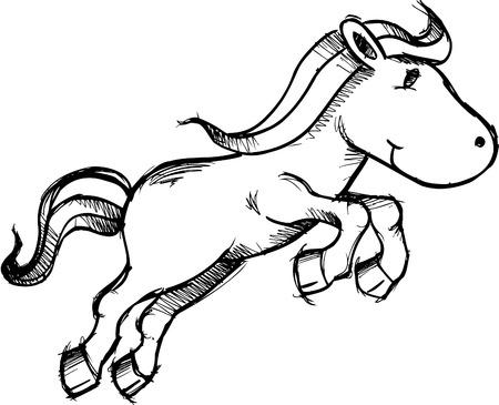thoroughbred horse: Sketchy caballos Pony Ilustraciones Vectoriales Vectores
