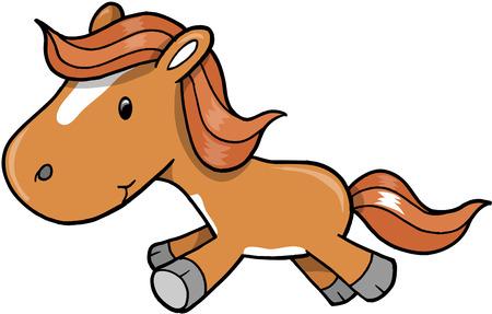 Horse Pony Vector Illustration Vector