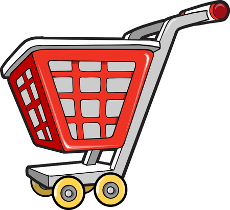 Winkelwagen Vector Illustratie Stock Illustratie