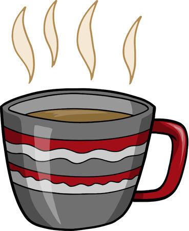 ホット コーヒーのベクトル図