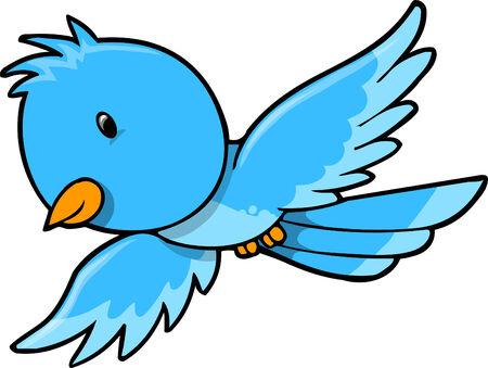 Blue Bird Vector Illustratie