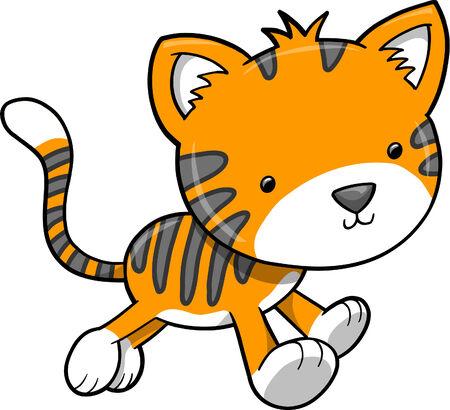 meow:  Tiger Vector Illustration