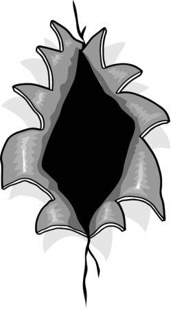 hole: Ripped Hole Illustration Illustration
