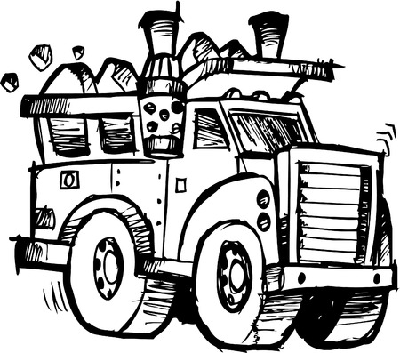dump truck: sketchy Dump Truck Illustration